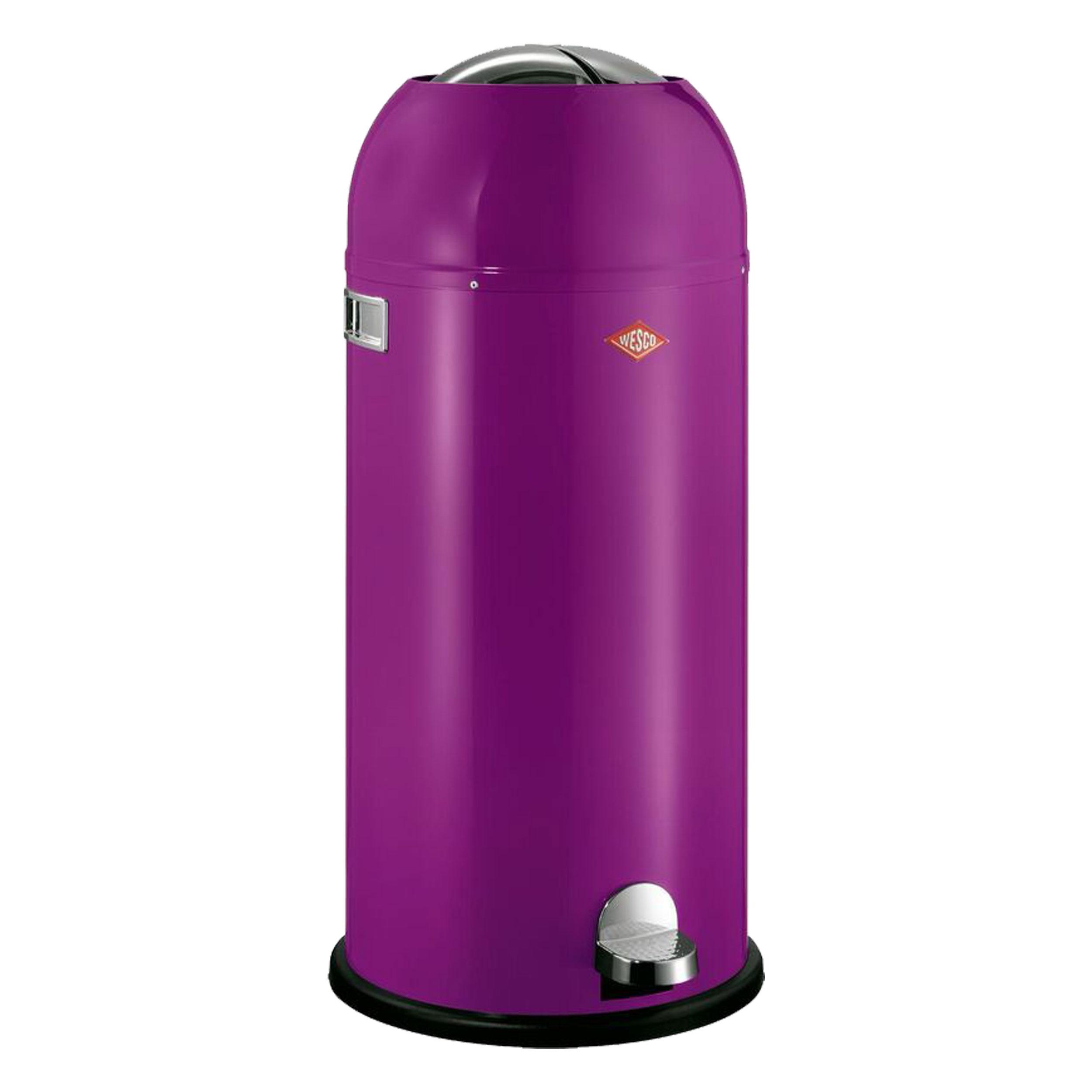 Wesco Kickboy 40 Liter Paars.Wesco Kickmaster Maxi Waste Bin Pedal Bin Dustbin Blackberry Steel Sheet 40 L 180731 36 At About Tea De Shop
